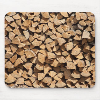 Pile Of Wood Mouse Pad