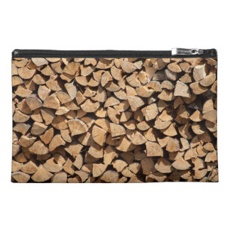 Pile Of Wood Travel Accessory Bag