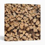 Pile Of Wood Vinyl Binder