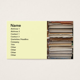 PILE OLD BOOKS DIGITAL PHOTOGRAPHY GRAPHICS STUDY BUSINESS CARD