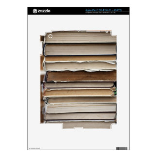 PILE OLD BOOKS DIGITAL PHOTOGRAPHY GRAPHICS STUDY DECAL FOR iPad 3