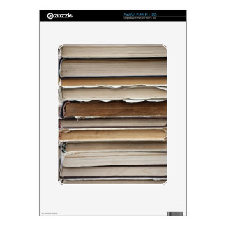 PILE OLD BOOKS DIGITAL PHOTOGRAPHY GRAPHICS STUDY DECAL FOR iPad