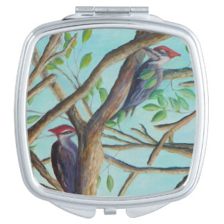 PILEATED WOODPECKER Compact Mirror