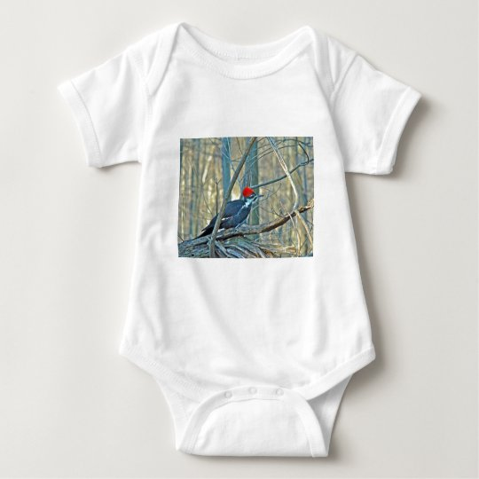 Pileated Woodpecker Coordinated Items Baby Bodysuit