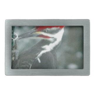 Pileated Woodpecker Fan Items and Apparel Rectangular Belt Buckles