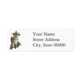 Pileated Woodpecker, John Audubon Custom Return Address Label