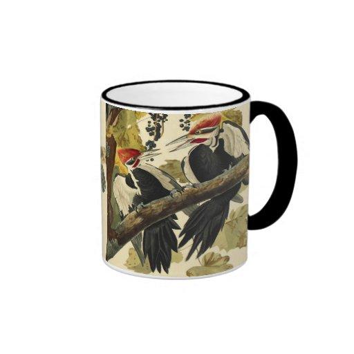 Pileated Woodpecker, John James Audubon Coffee Mug