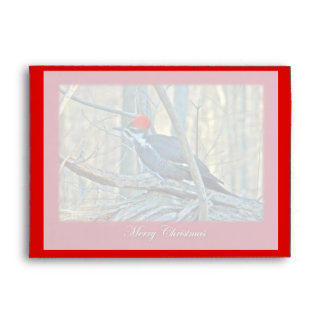 Pileated Woodpecker Merry Christmas Items Envelopes