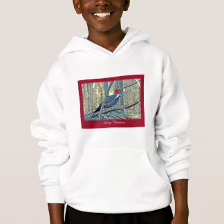 Pileated Woodpecker Merry Christmas Items Hoodie