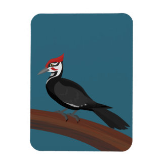Pileated Woodpecker Vector Art Flexible Magnet