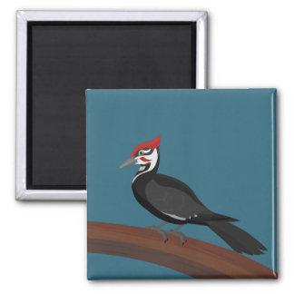Pileated Woodpecker Vector Art Magnet
