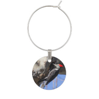Pileated Woodpecker Wine Glass Charm