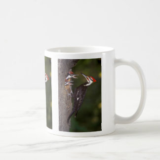 Pileated Woodpecker with young Classic White Coffee Mug