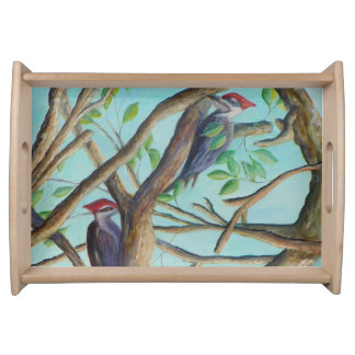 PILEATED WOODPECKERS Serving Tray