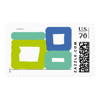 piled coloured cubes postage