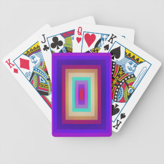 Piled Rectangles Bicycle Poker Deck