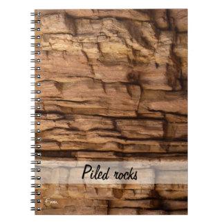 piled rocks notebook