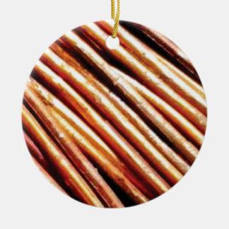 piles of copper pipes ceramic ornament