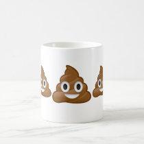 Piles of poop emoji mug