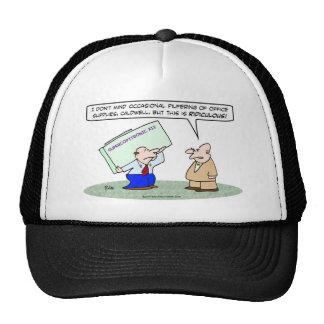 pilfer office supplies copy  machine trucker hat