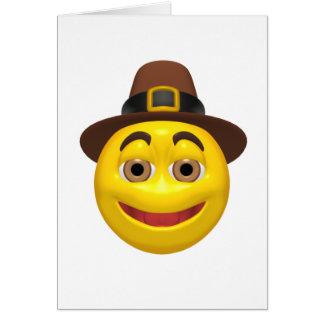 Pilgram feliz amarillo de la acción de gracias tarjeta de felicitación