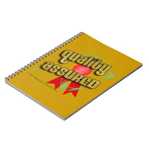 Pilgrim Bay Quality Assured Logo Product Spiral Notebooks