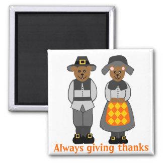 Pilgrim bears, Always giving thanks magnet