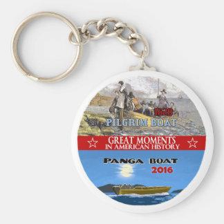 Pilgrim Boat / Panga Boat Basic Round Button Keychain
