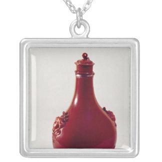 Pilgrim bottle, Meissen, c.1710 Silver Plated Necklace