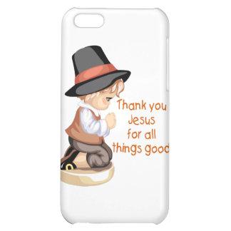 Pilgrim boy praying on knees cover for iPhone 5C