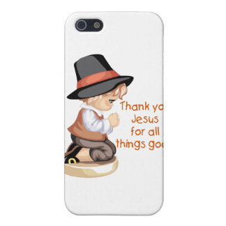 Pilgrim boy praying on knees covers for iPhone 5