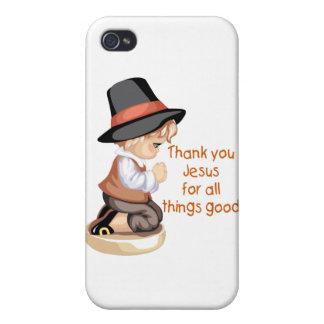 Pilgrim boy praying on knees iPhone 4 covers