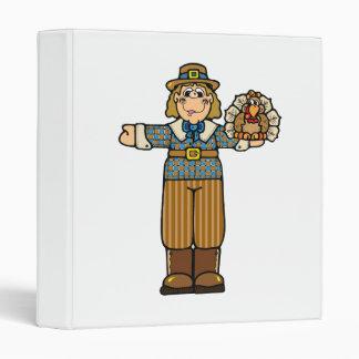 pilgrim boy with turkey 3 ring binder