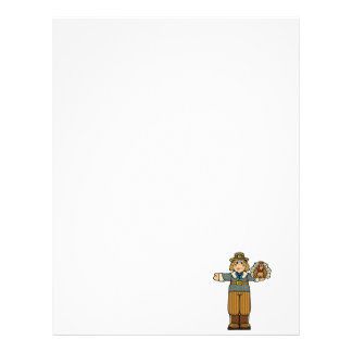 pilgrim boy with turkey letterhead design