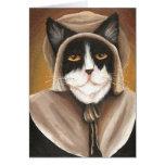 Pilgrim Cat Puritan in Colonial Dress Card
