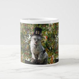 Pilgrim Cat 20 Oz Large Ceramic Coffee Mug