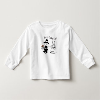 Pilgrim Children Happy Turkey Day - Customize It! Toddler T-shirt