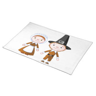 Pilgrim Couple Placemat