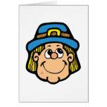 pilgrim face greeting card