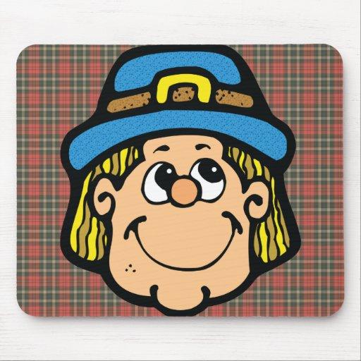 pilgrim face mouse pad