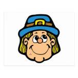 pilgrim face postcard
