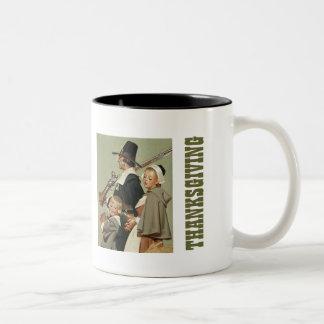 Pilgrim Family. Thanksgiving Gift Mugs