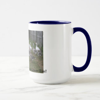 Pilgrim Geese Mug, Blue Mug