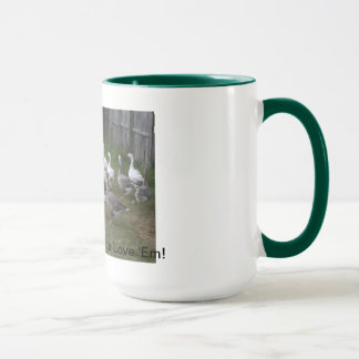 Pilgrim Geese Mug, Green Mug