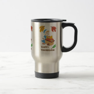Pilgrim girl 2 travel mug .