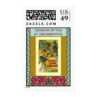 Pilgrim girl postage stamps