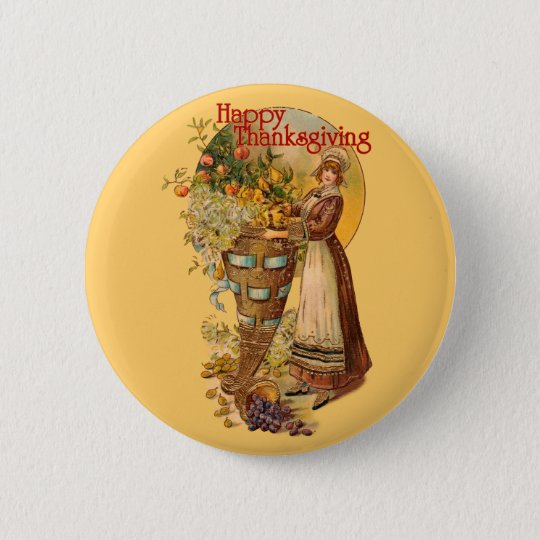Pilgrim Girl with Victorian Style Button