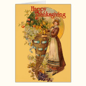 Pilgrim Girl with Victorian Style Card