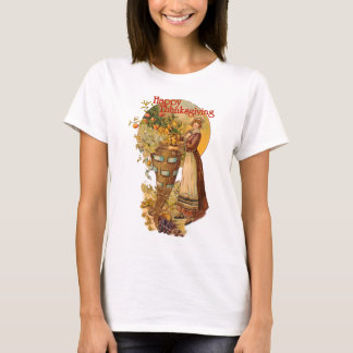 Pilgrim Girl with Victorian Style T-Shirt