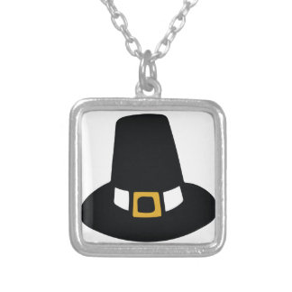Pilgrim Hat Silver Plated Necklace
